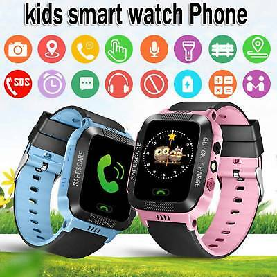 Waterproof Smart Watch With GSM Locator Tracker Call Anti-lost For Kids SOS GPS