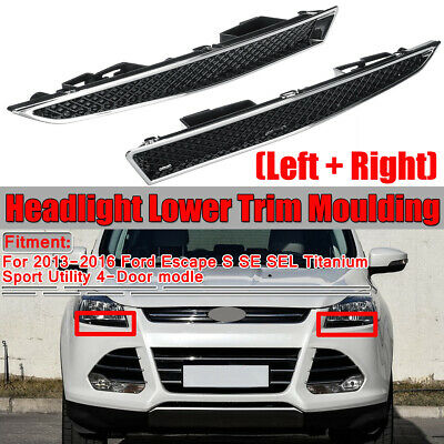 2x Headlight Lower Bracket Trim Moulding Replace For Ford Escape 4Door 2013-2016