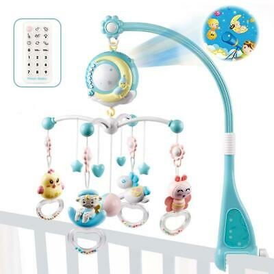 Baby Musical Crib Mobile Bed Bell Toys Hanging Rattles Rotating Projection Gift