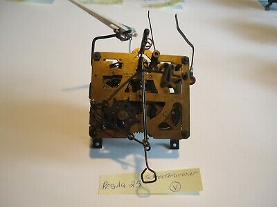 Vintage Regula 25 Cuckoo Clock Movement With Bird for parts or repair V