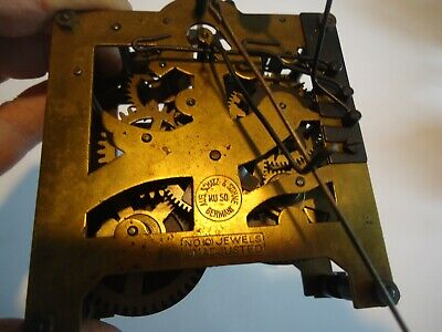Vintage 8 Day Shatz & Sohne Cuckoo Clock Movement With Bird for parts or repair