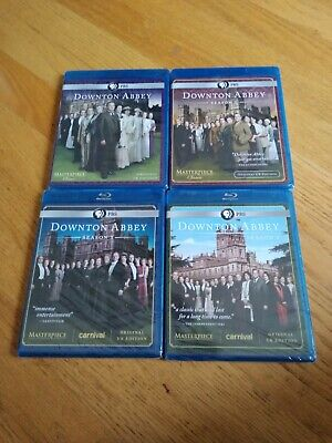 Brand New Downton Abbey Season 1,2,3,4, Blu-Rays A Must Have For Real Fans