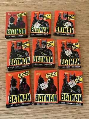 Huge Lot 1989 Batman Topps Trading Cards Unopened packs cards stickers bubblegum
