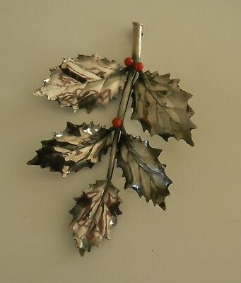 Buccellati Italy Sterling Silver Holly Branch