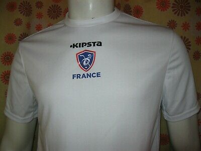 Ancien T-SHIRT MAILLOT KIPSTA FFHG FEDERATION FRANCAISE HOCKEY SUR GLACE France