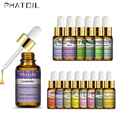 Essential Oils 5ml 100% Pure Therapeutic Grade Oil For Skin Hair Soap Diffuser E