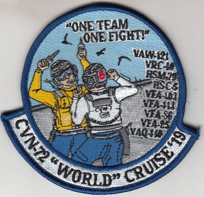 Vaw-121 Bluetails One Team / One Fight Cvw-72 World Cruise '19 Patch