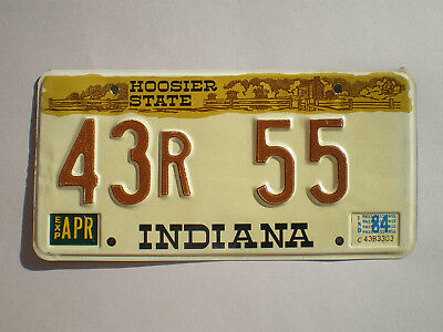 Authentic 1984 Indiana License Plate