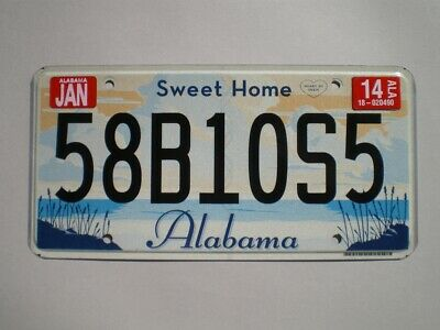 AUTHENTIC 2014 ALABAMA LICENSE PLATE (Flat style / Non emboutie)