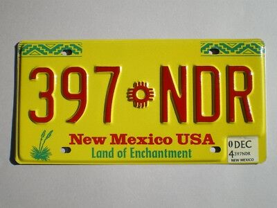 Authentic 2004 New Mexico License Plate