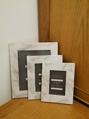 WHITE MARBLE EFFECT Picture Photo Frame 8x10 5x7 4x6 Photo