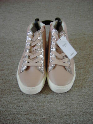 Marks and Spencer Girls Pink Sparkly Trainers Size 5 Brand New Freshfeet Technol