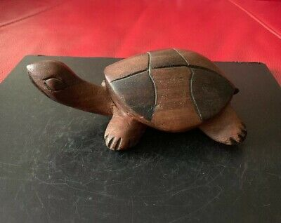 Wooden Hand Carved Turtle /Tortoise Ornament