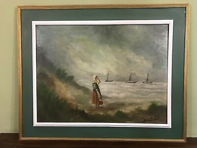 Very Large Old Vintage Oil Painting, Signed