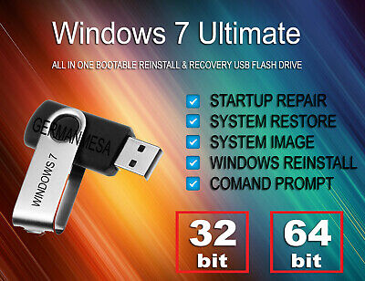 Microsoft Windows 8 Recovery Flash Drive for Sony Vaio Fit SVF15 SVF14 Series