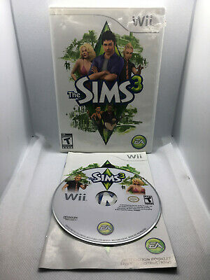 The Sims 3 - Complete CIB - Chew Marks on Case -Nintendo Wii