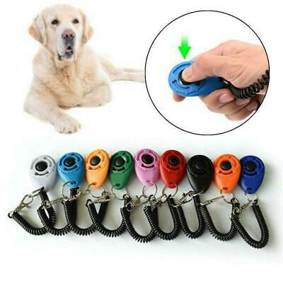 Pet Dog Training Clicker Puppy Cat Button Click Trainer Obedience Aid Wrist HOT