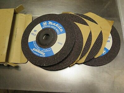 "Lot 5 Makita Grinding Wheels NEW 7"" x 1/8"" x 7/8"" Part No. 741313-6A, BF Type 27"