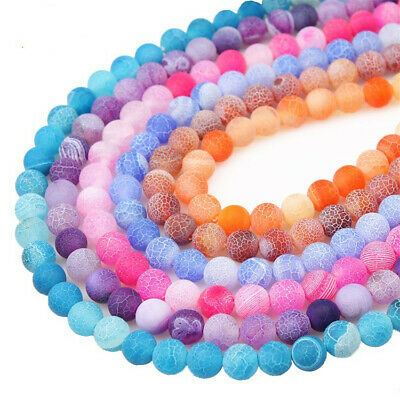 4-8mm Natural Weathered Agate Loose Beads Diy Accessories Lots Healing Spacer