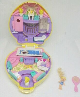 Vintage Polly Pocket BlueBird 1995 Stylin' Salon Compact almost COMPLETE