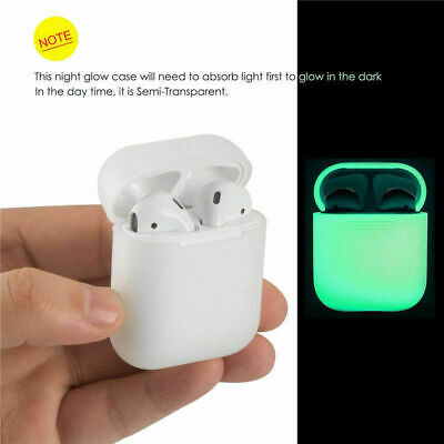 Glow In The Dark Silicone Protective Cover for Apple AirPod Charging Case New