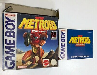 Metroid II Return of Samus Box & Manual Only *NO GAME* Nintendo Gameboy Game Boy
