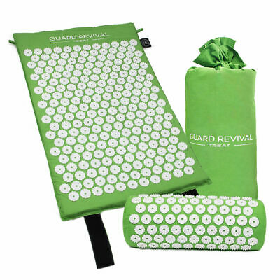 Acupressure Mat and Pillow Set for Back Neck Pain Tension Relieve Stress