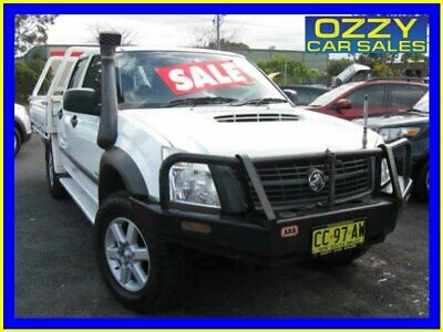 2007 Holden Rodeo RA MY07 LX (4x4) White Manual 5sp M Crew C/Chas