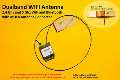2 X MHF4 Laptop Embedded Antenna for WWAN 3G/4G/LTE NGFF/M 2