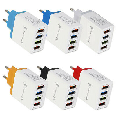 4 Port Fast Quick Charging Wall Charger QC 3.0 USB Hub Power Adapter Plug KY