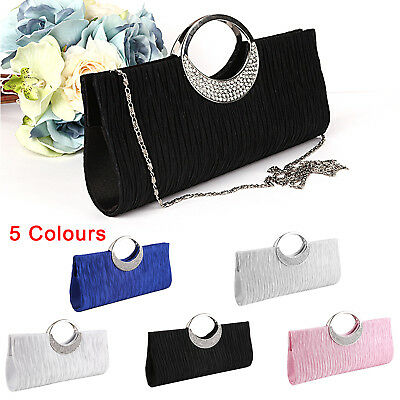 Women Evening Party Prom Clutch Bridal Bag Purse Ladies Wallet Handbag Diamante