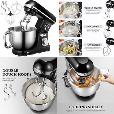 Stand Mixer, Aicok 1000W Dough Blender with Powerful Double Hooks, 6...