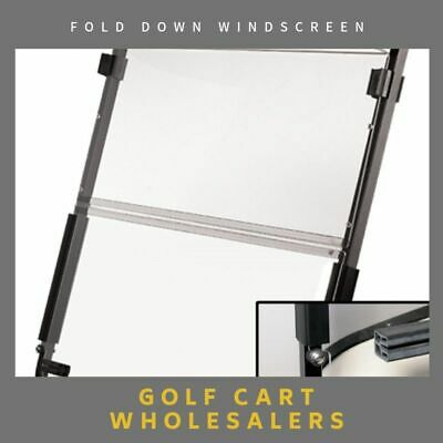 Golf Cart Car Buggy Fold Down Windscreen In Clear And Tinted