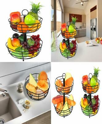 ESYLIFE 2 Tier Petal Shape Counter Fruit Bread Basket Assembled Bowl,...