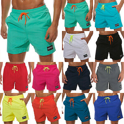 Mens Solid Beach Board Shorts Summer Surf Sports Swim Trunks Bottoms Sweatpants