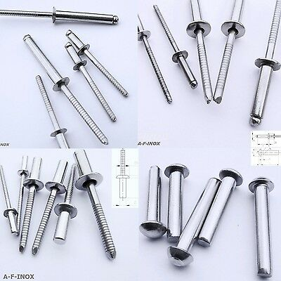 10 Blind Rivet Stainless Steel VA Pop Flathead Countersunk-Head Becherniet