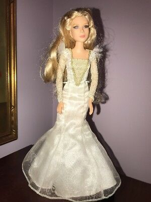 Disney Oz The Great And Powerful Glinda Doll  Blonde White Gold Dress Wizard