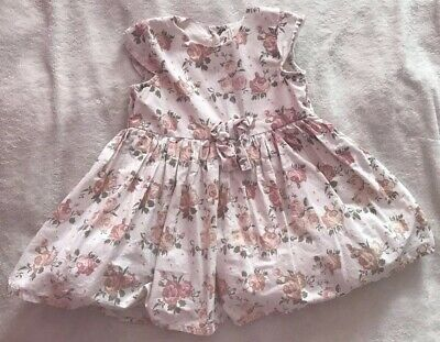 Beautiful Floral Baby Girls Matalan Dress Age 12-18 Months