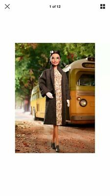 Rosa Parks Barbie Inspiring Women Doll FXD76 Ready to Ship NOT a Preorder