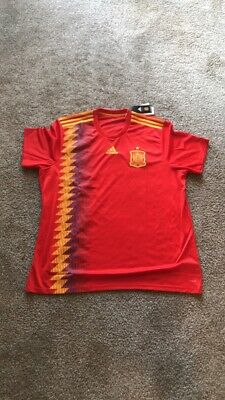 size 40 bf81f ef9c5 XXL ADIDAS 2018 Red Spain Home Authentic Jersey - NWT (2XL)