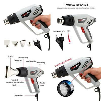 2000W Heat Gun,Dual High Low (350-550°C) Adjustable Guns