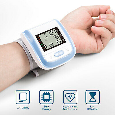 Automatic Wrist Blood Pressure Monitor BP Cuff Machine Heart Rate Pulse Meter US