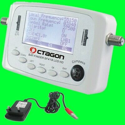OCTAGON SF-418 HQ Profi Satfinder LCD Digital HDTV Satelliten-Finder Camping 28