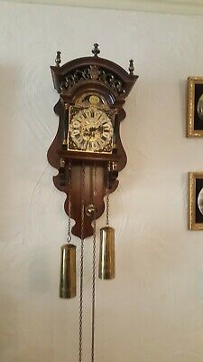 Antique Wall Clock With Moon Phase Dial