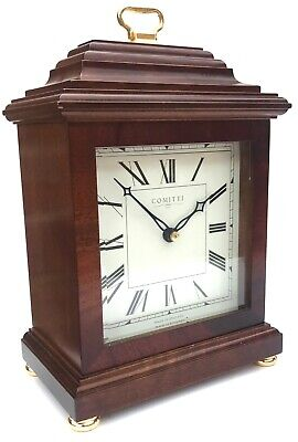 Comitti Of London Striking Mahogany Mantel Clock With White Dial