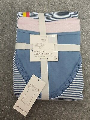BNWT Ex Marks & Spencer 2 Pack Nightdresses (Size 16-18)