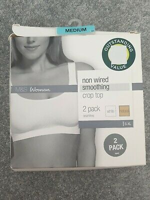 BNWT Ex Marks & Spencer Non Wired Smoothing Crop Top 2 Pack  (Size M)