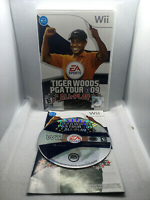 Tiger Woods PGA Tour 09 All-Play - Complete CIB - Very Good Cond. - Nintendo Wii