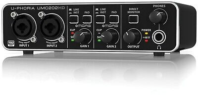 Behringer U-phoria Umc202hd Audiophile 2x2  USB Audio Interface Traktion