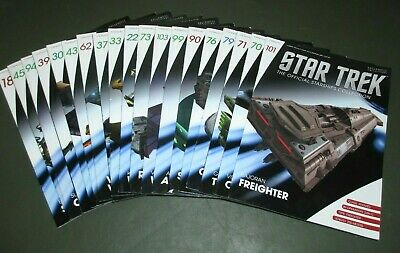 Star Trek Official Starships Collection Die Cast Vehicle Magazine Lot of 19